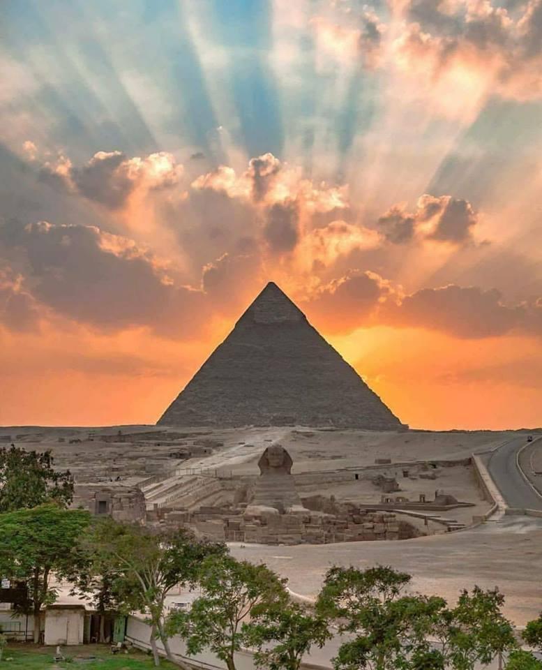 Grand pyramid at Giza