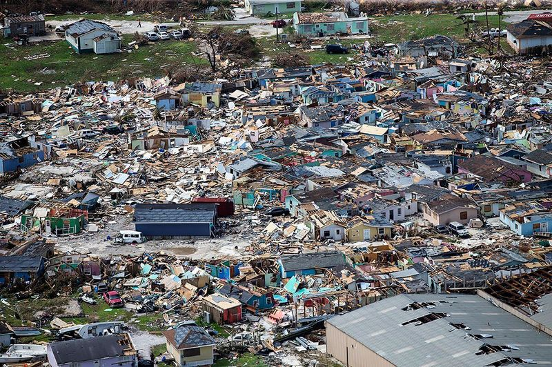 Bahamas - struck down but not destroyed