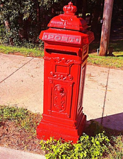 British post box landmark
