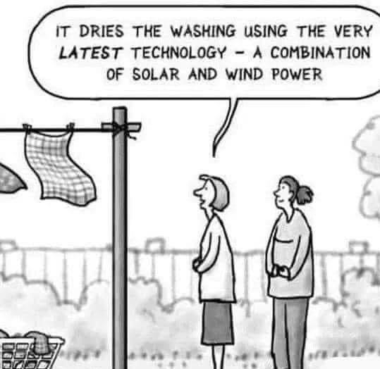 Who believes in solar / wind power?
