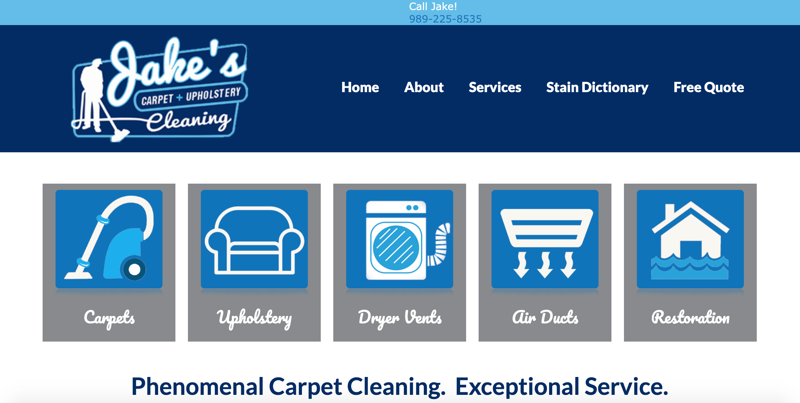 jakes carpet and upholstery cleaning sj digital client