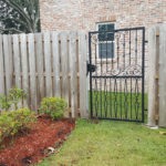 Simple Gate Attached To Wooden Fence