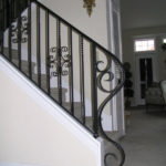 Stairway With Sweeping Scroll End