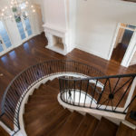 Angled View - Curved Ornate Staircase Railing