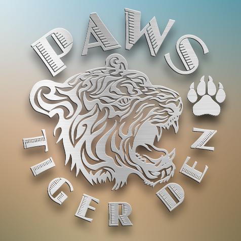 PAWS Tiger Den Metal Art