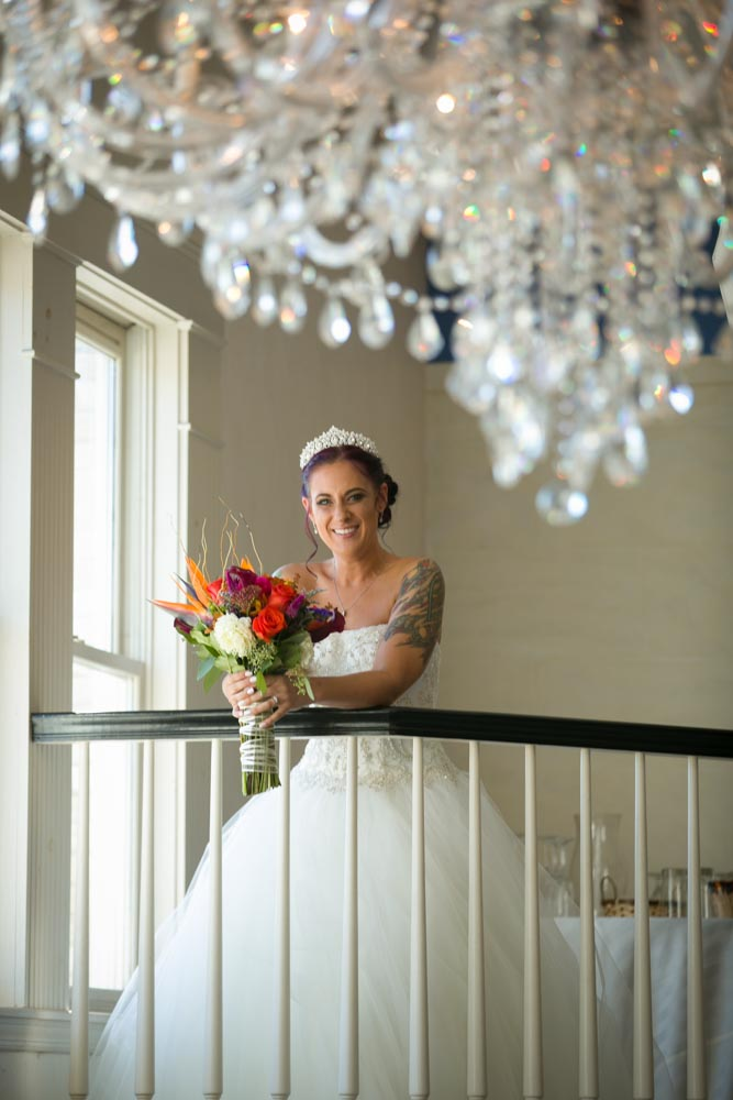 Matthew J Wagner Bridal Photo With Chandelier.