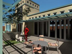 Front patio of Genesis Custom Home Design