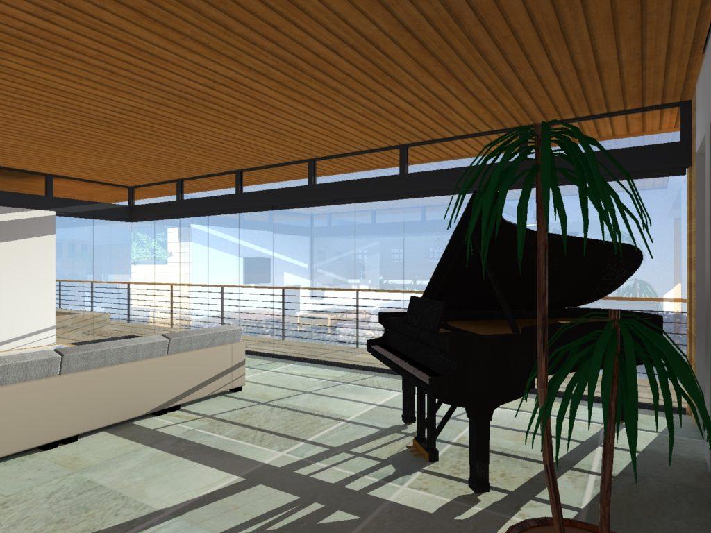 Living Room of Aspire Custom Home Design