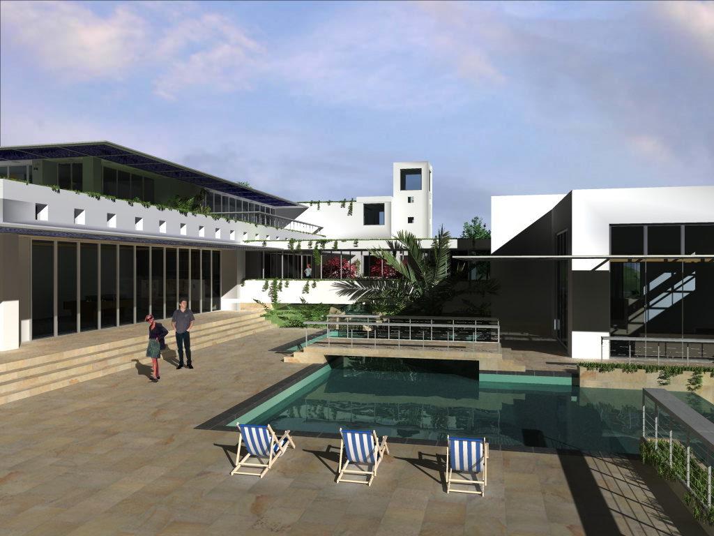 Pool at Cubism Custom Home Design