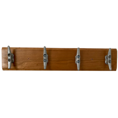 Handmade Solid Cherry Coat rack with Cleat hooks
