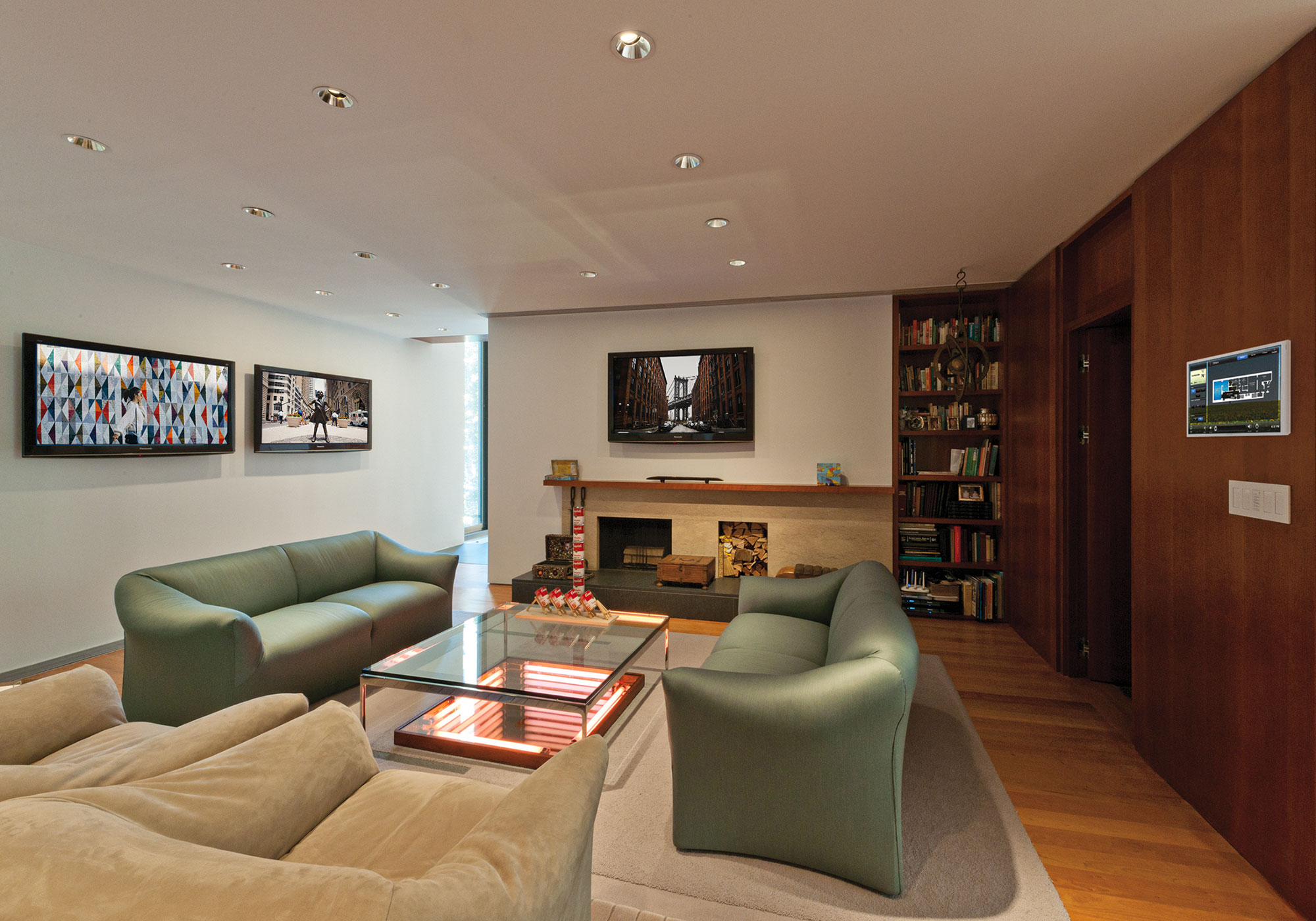 media room, touchscreen, wall-mount touchscreen