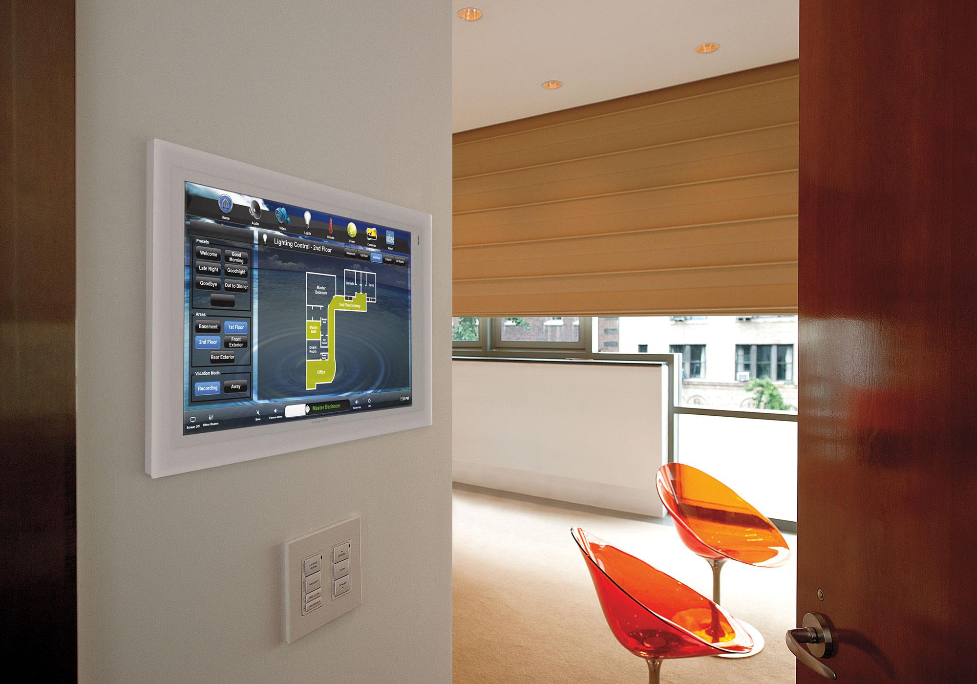 Bedroom, touchscreen, wall-mount touchscreen, lighting screen, keypad, presets