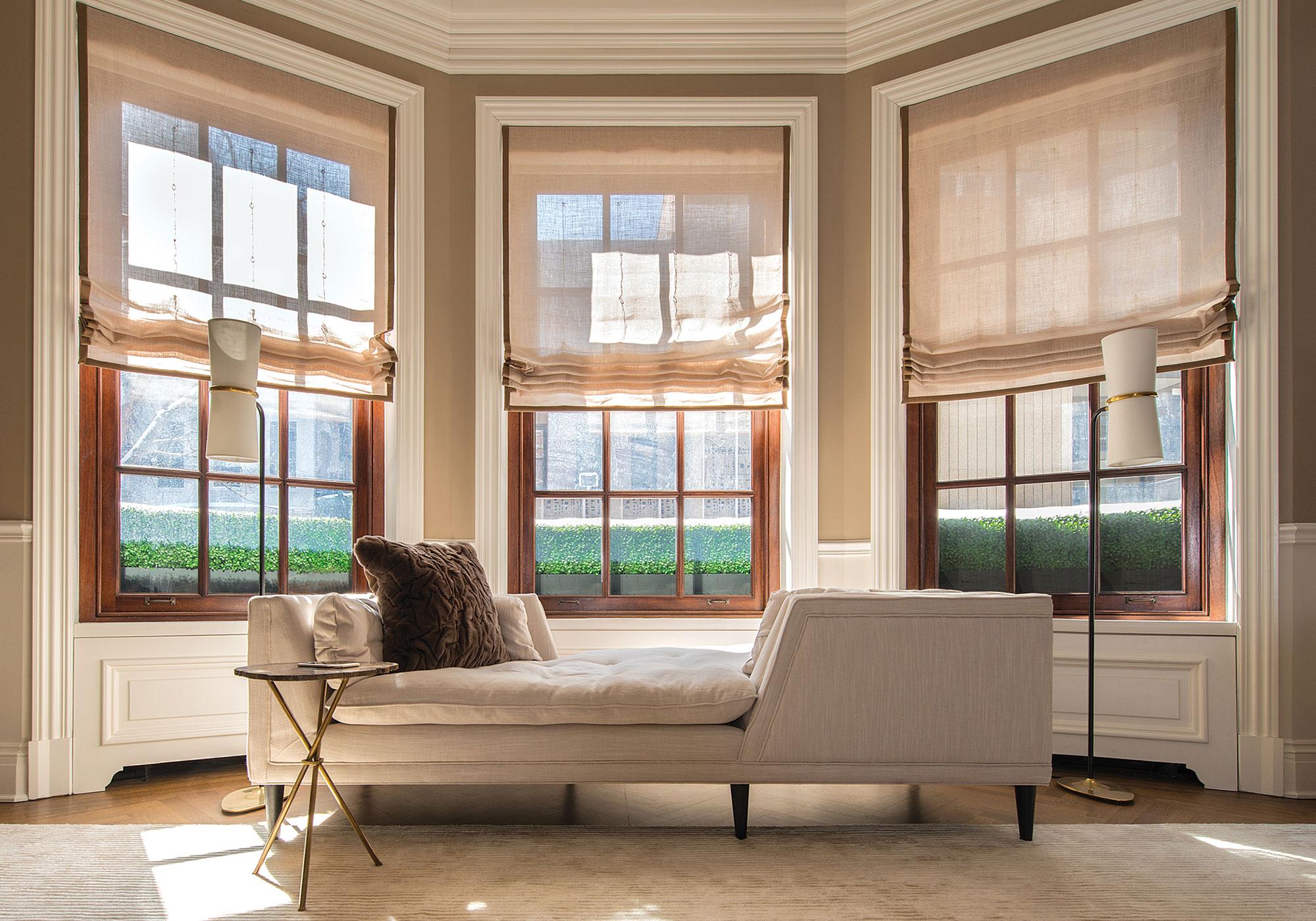 bedroom, shades, roman shades