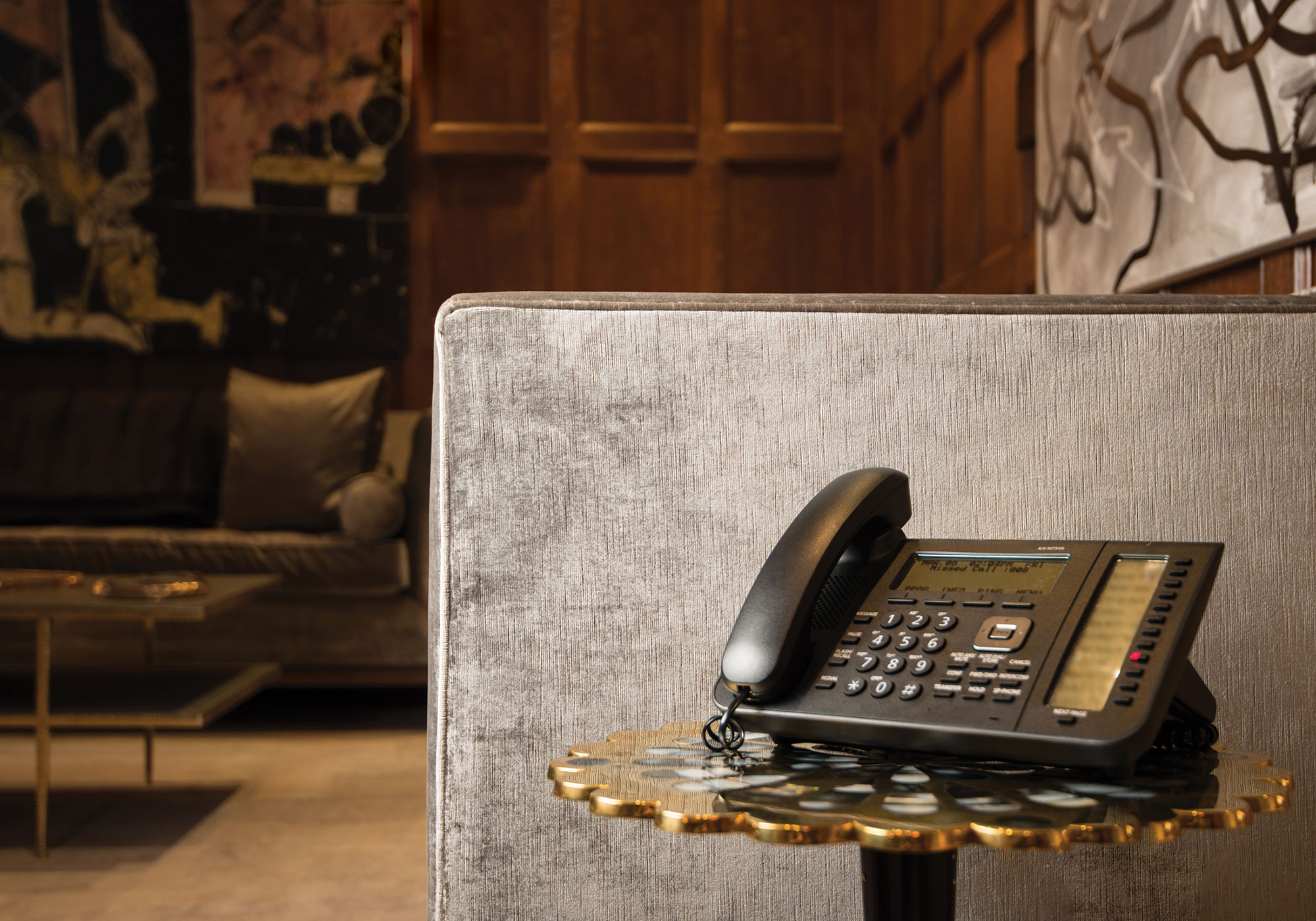 Living Room, telephone