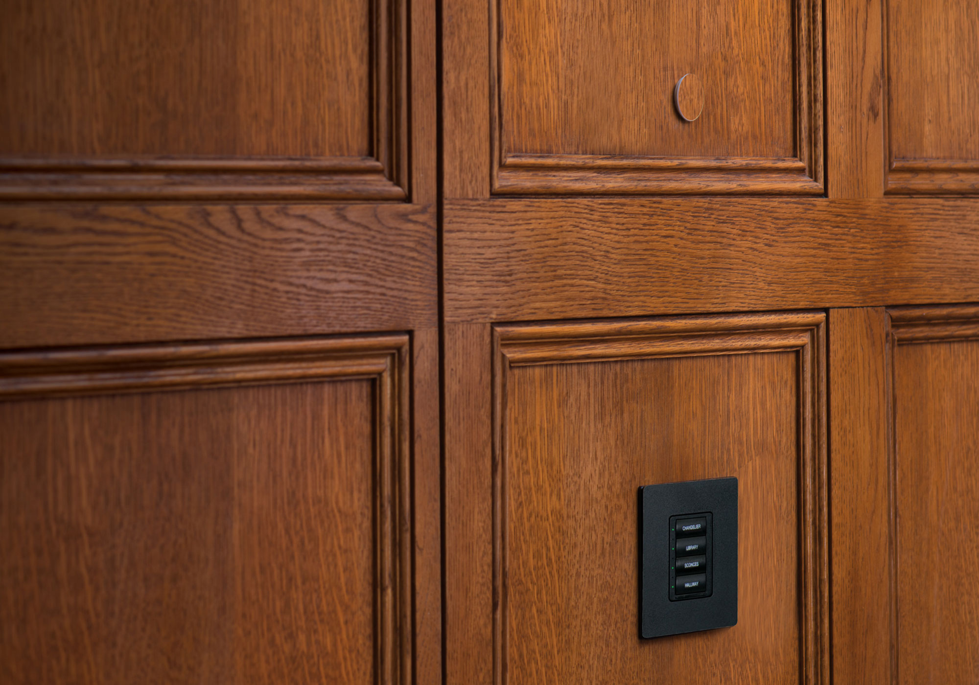 keypad, presets, remote sensor, wood, veneer