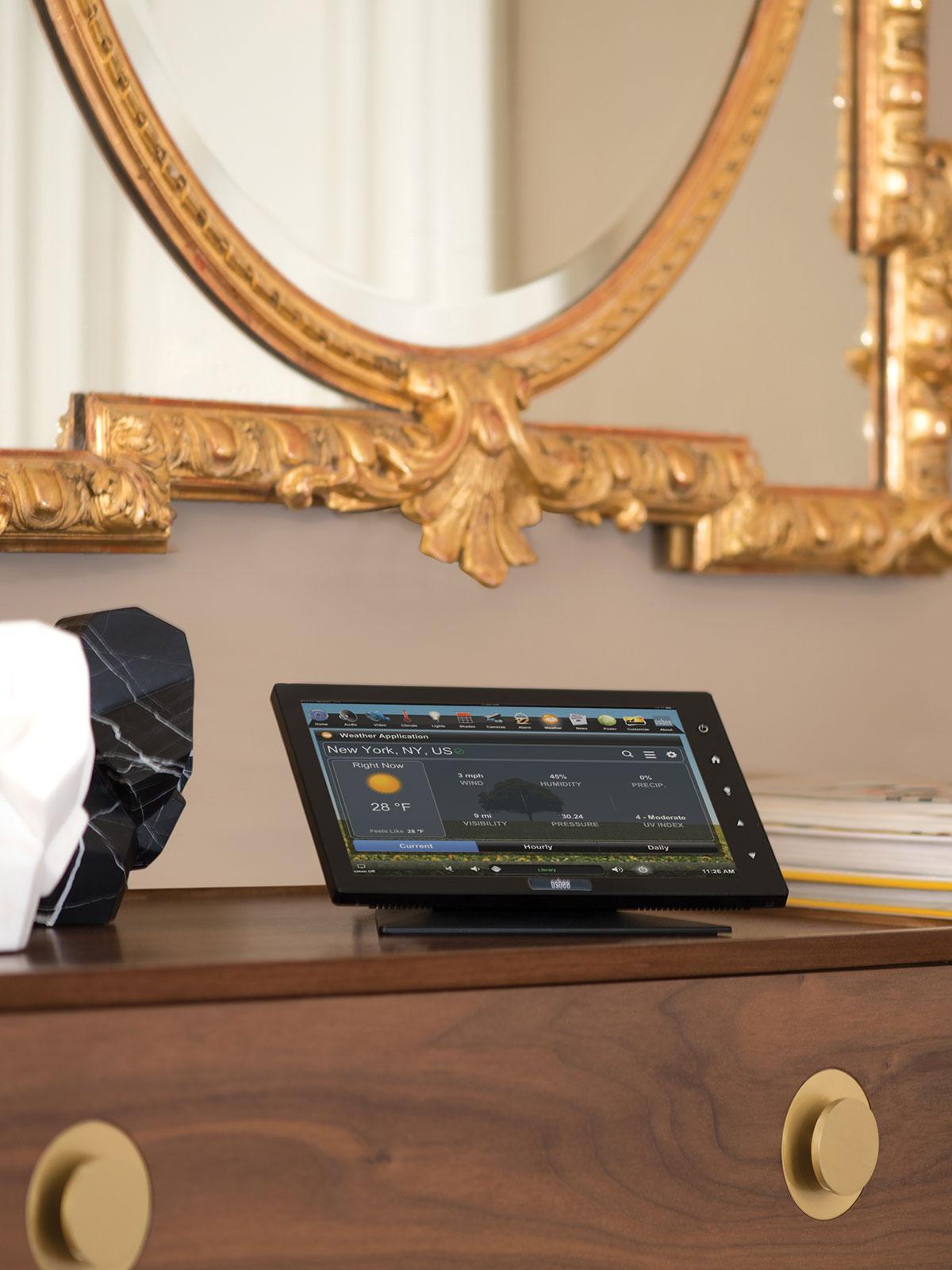 touchscreen, tabletop touchscreen, weather screen