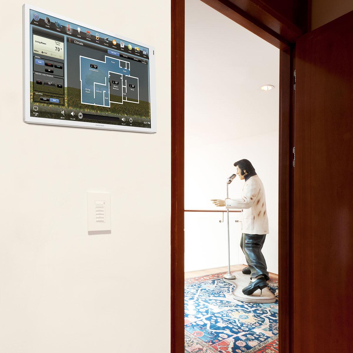 bedroom, touchscreen, wall-mount touchscreen, climate screen