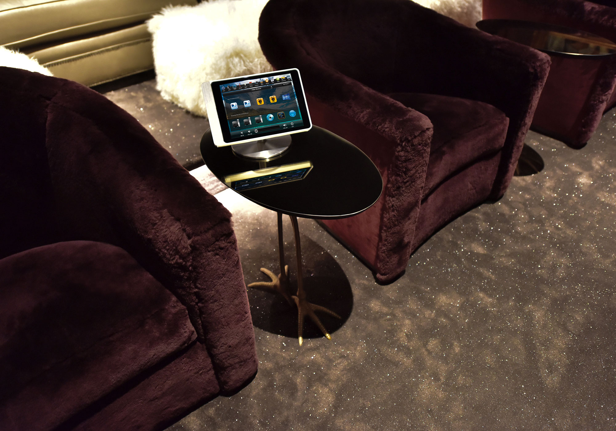 theater, seating, touchscreen, tabletop touchscreen