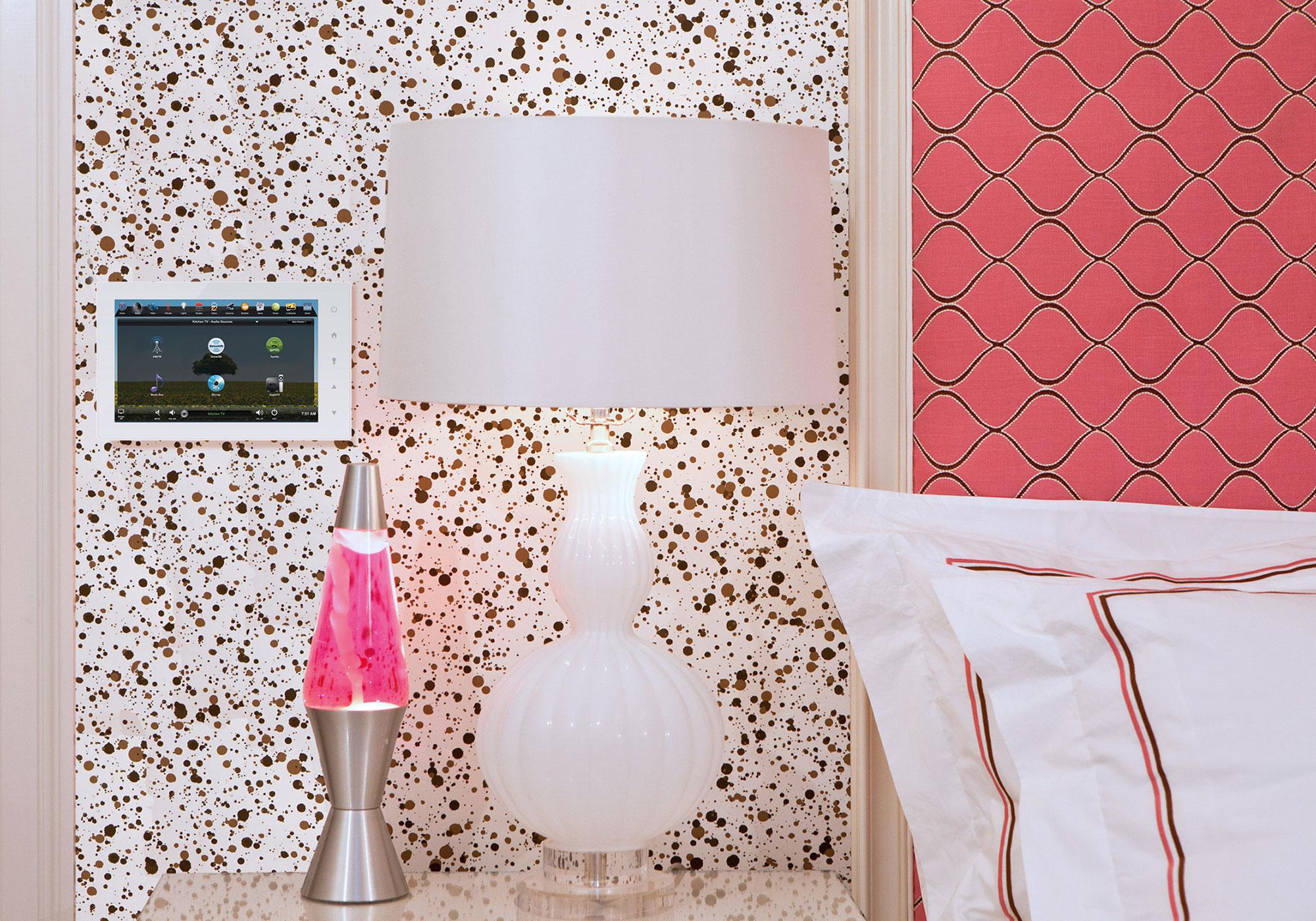 bedroom, touchscreen, wall-mount touchscreen, audio screen