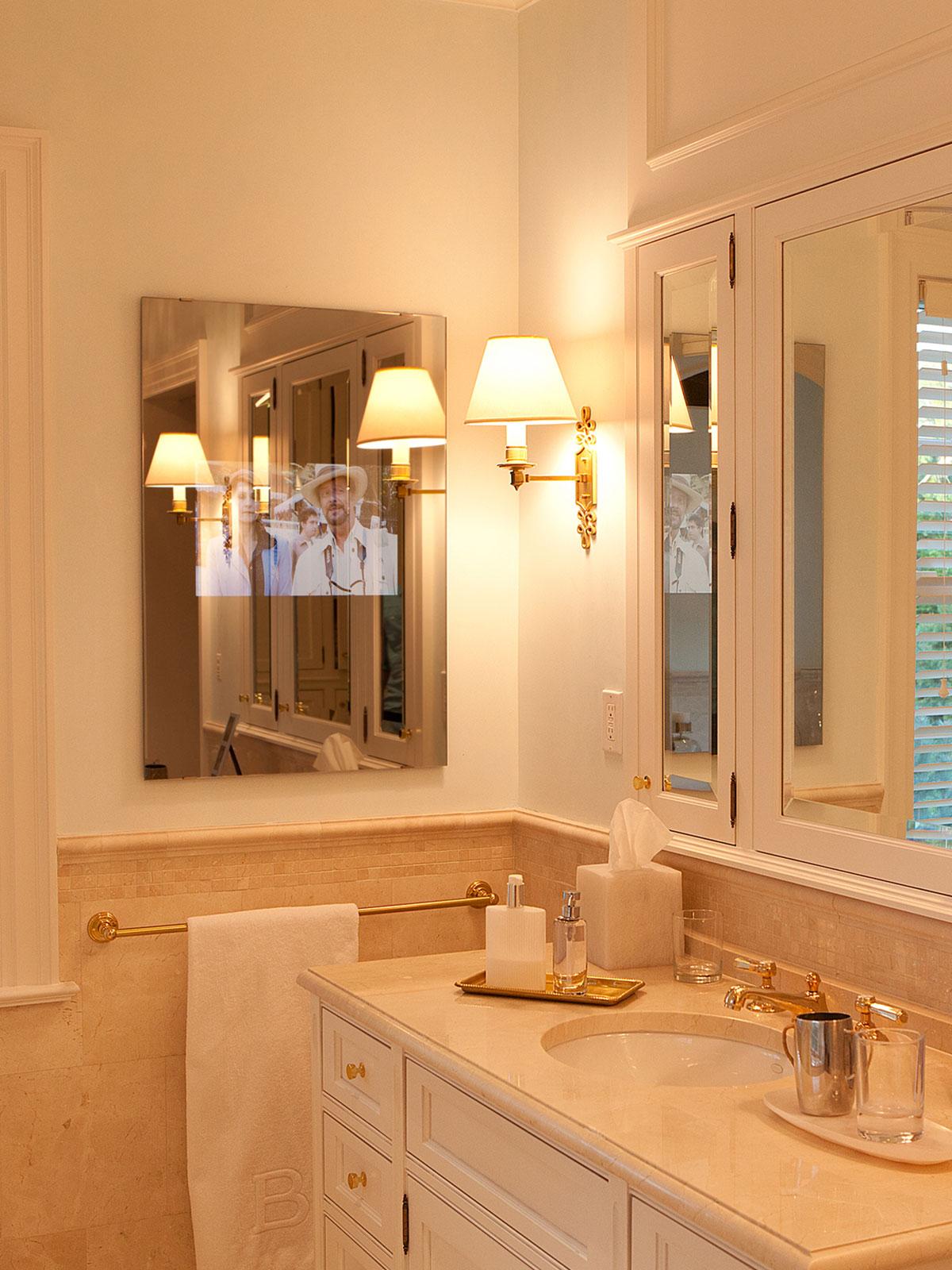 bathroom, tv, mirror tv, seura