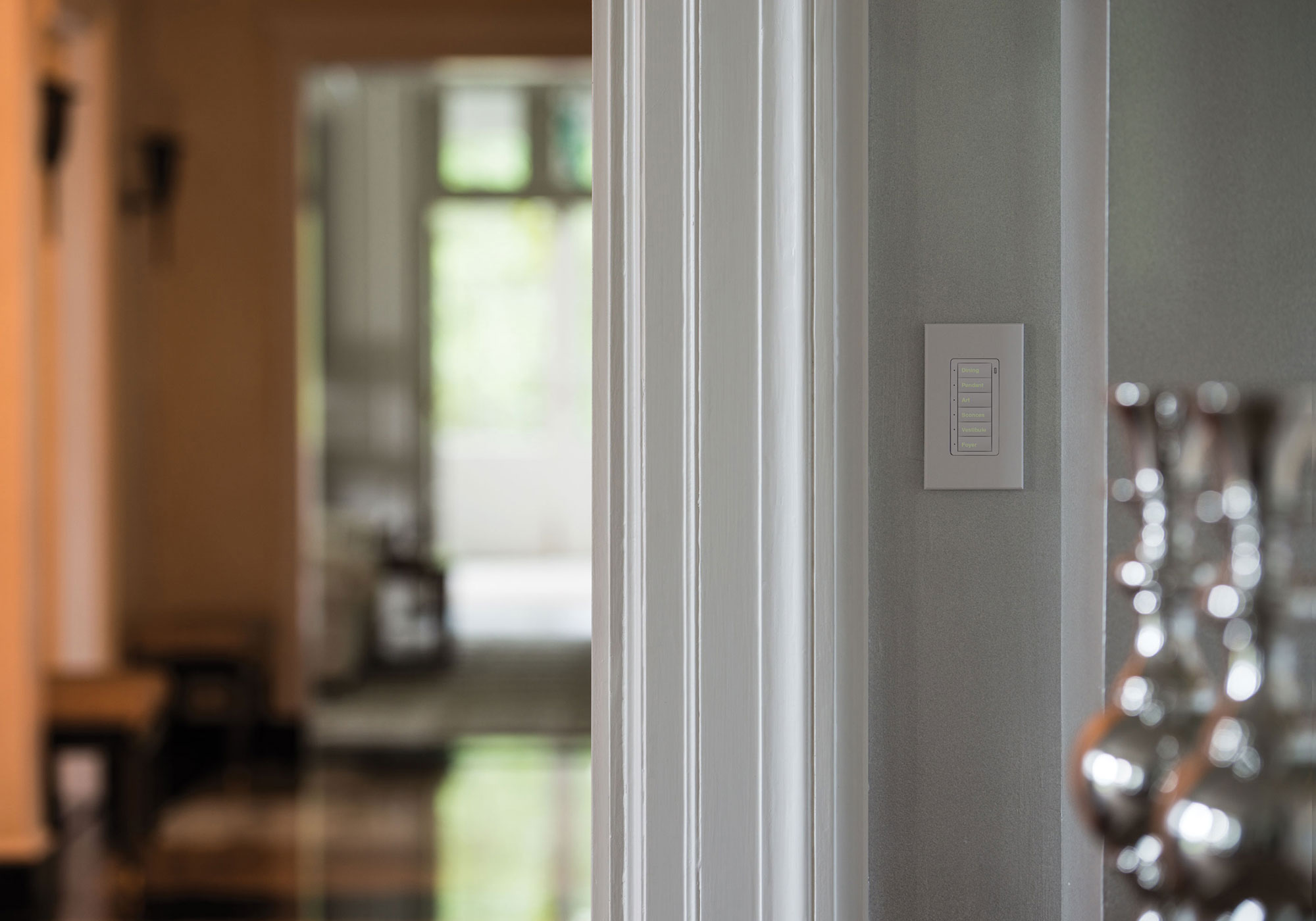 hallway, keypad, presets