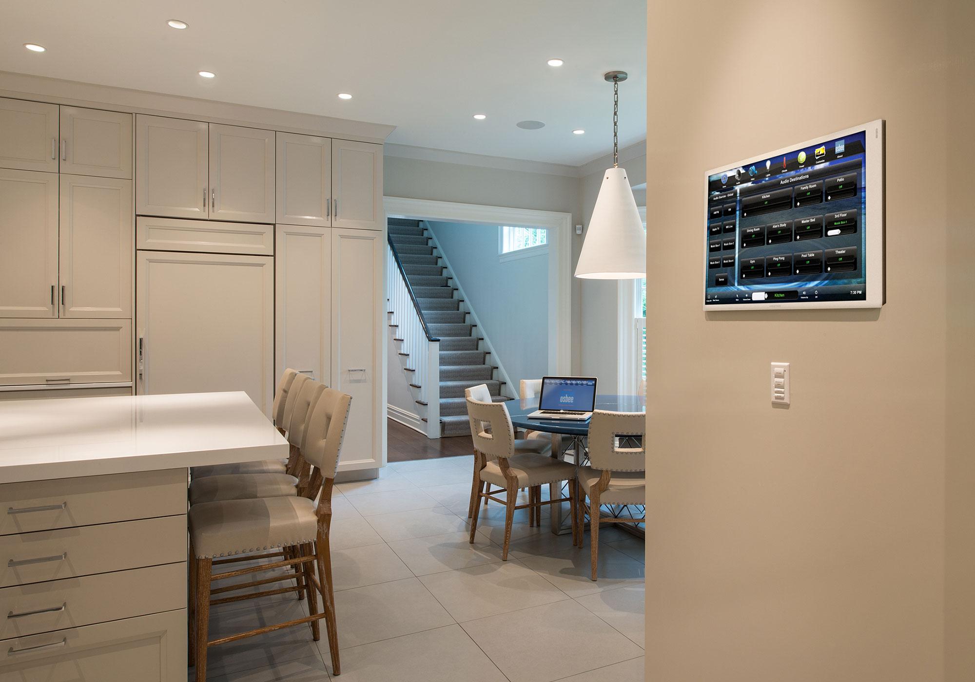 kitchen, touchscreen, wall-mount touchscreen, audio screen, keypad