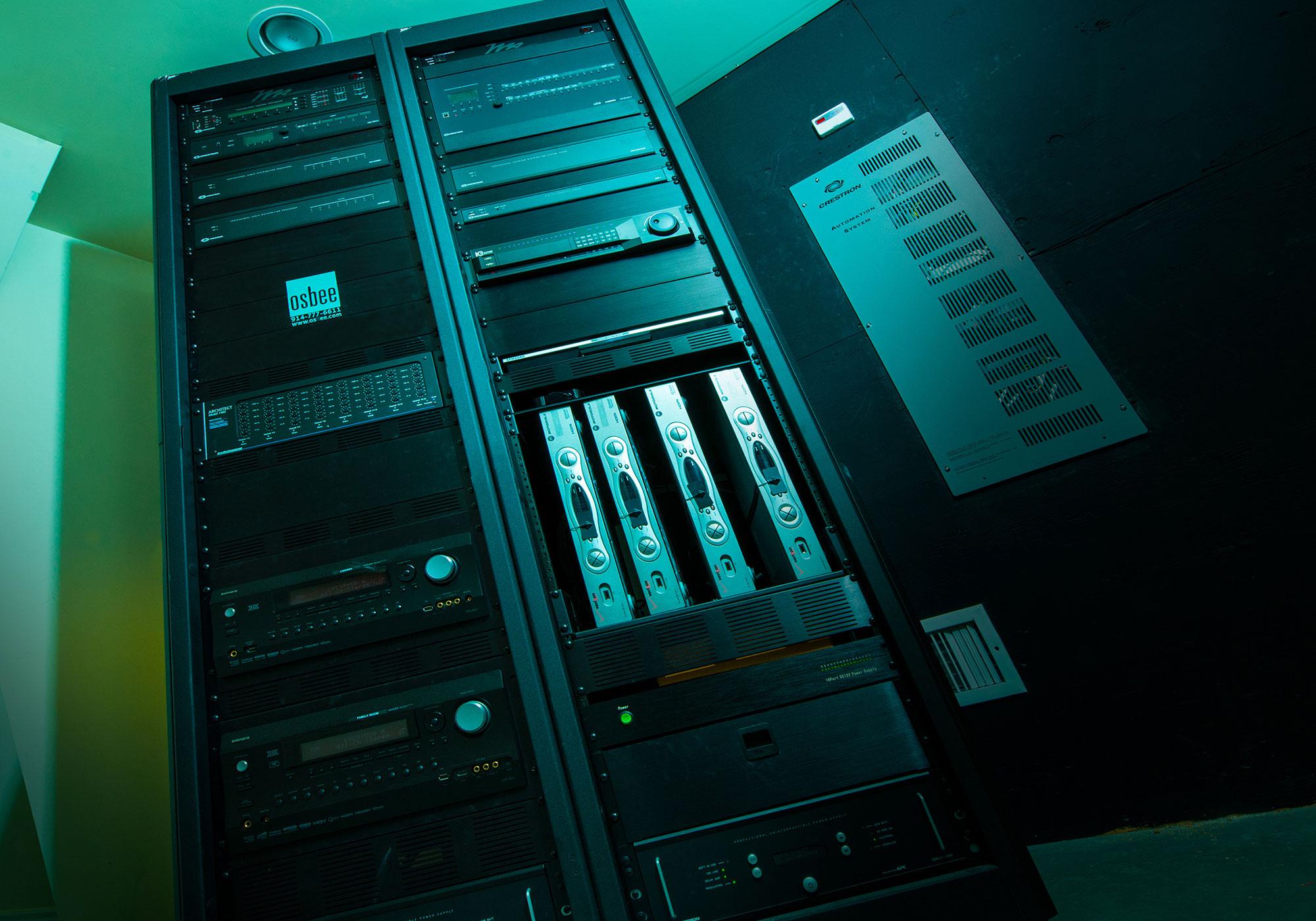 rack, equipment rack, head end