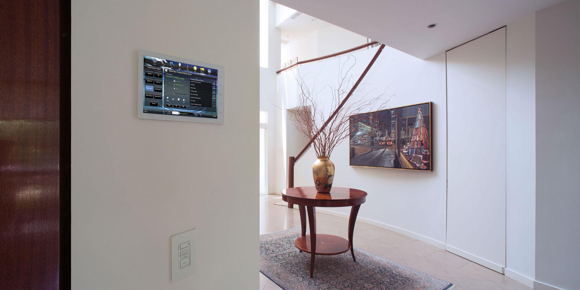 foyer, touchscreen, wall-mount touchscreen