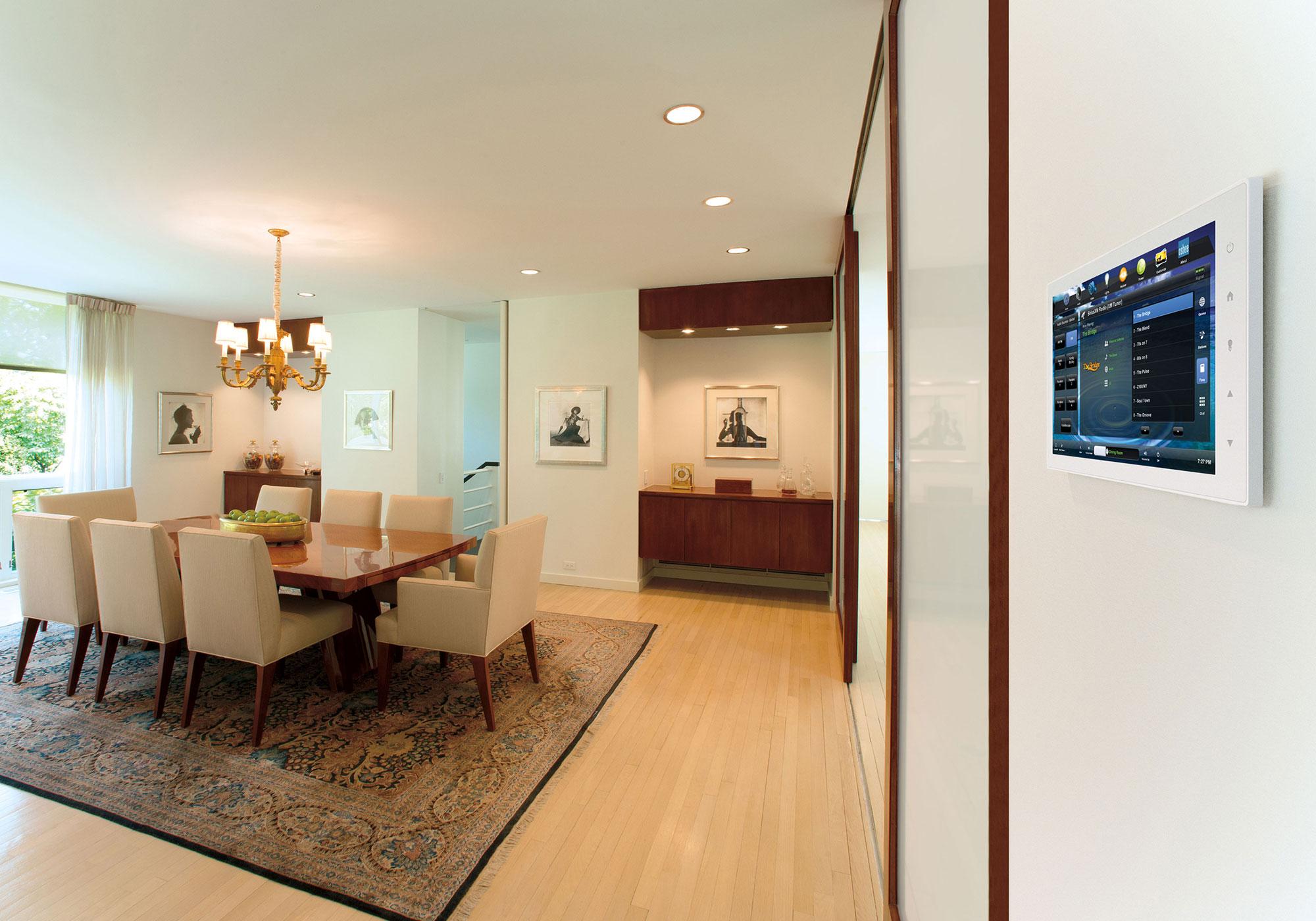 dining room, touchscreen, wall-mount touchscreen