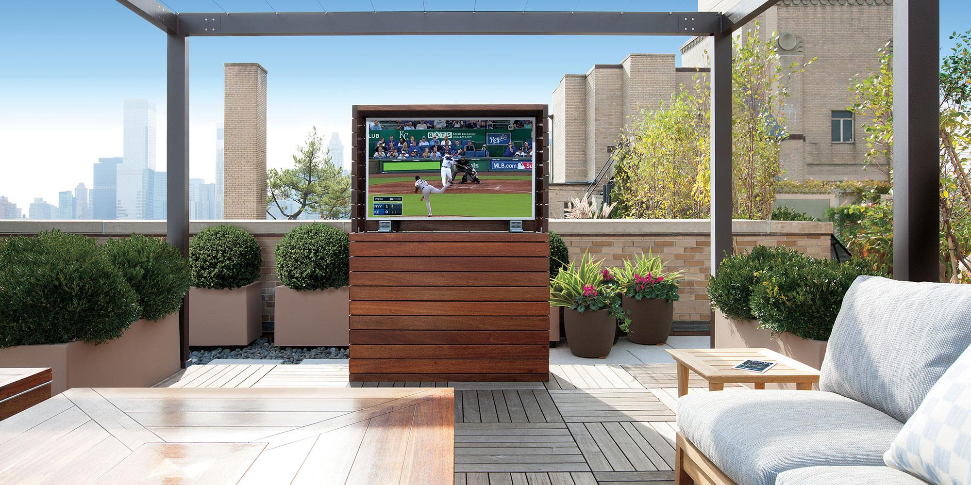 terrace, tv, waterproof tv