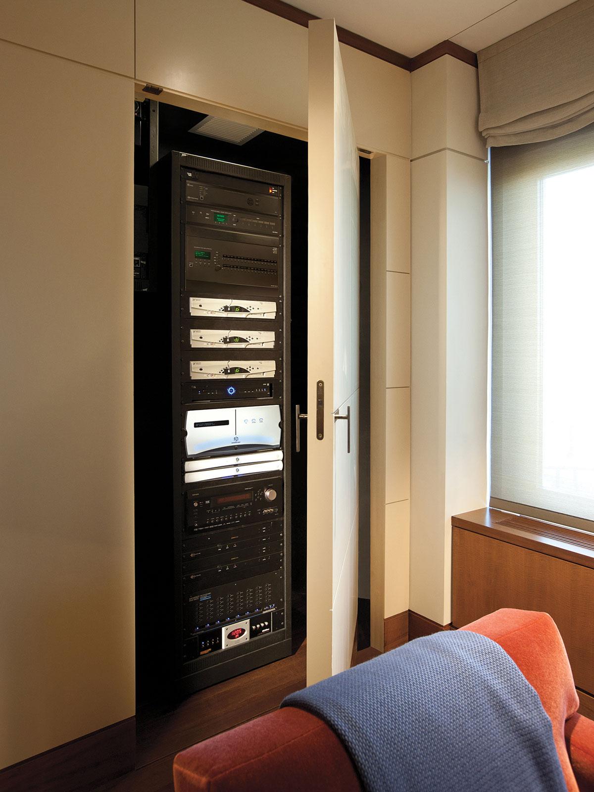 living room, closet, rack equipment rack, head end