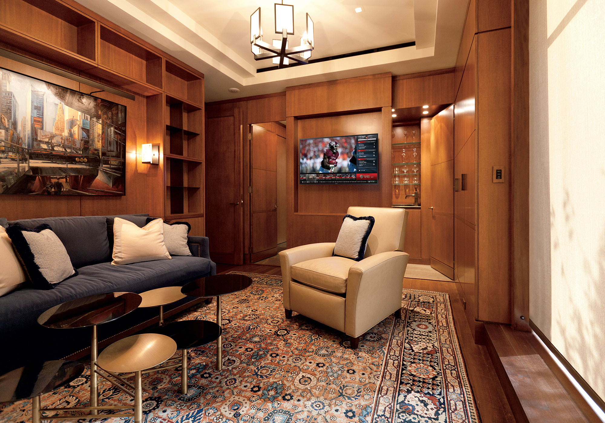 library, tv, cabinetry, millwork, recess
