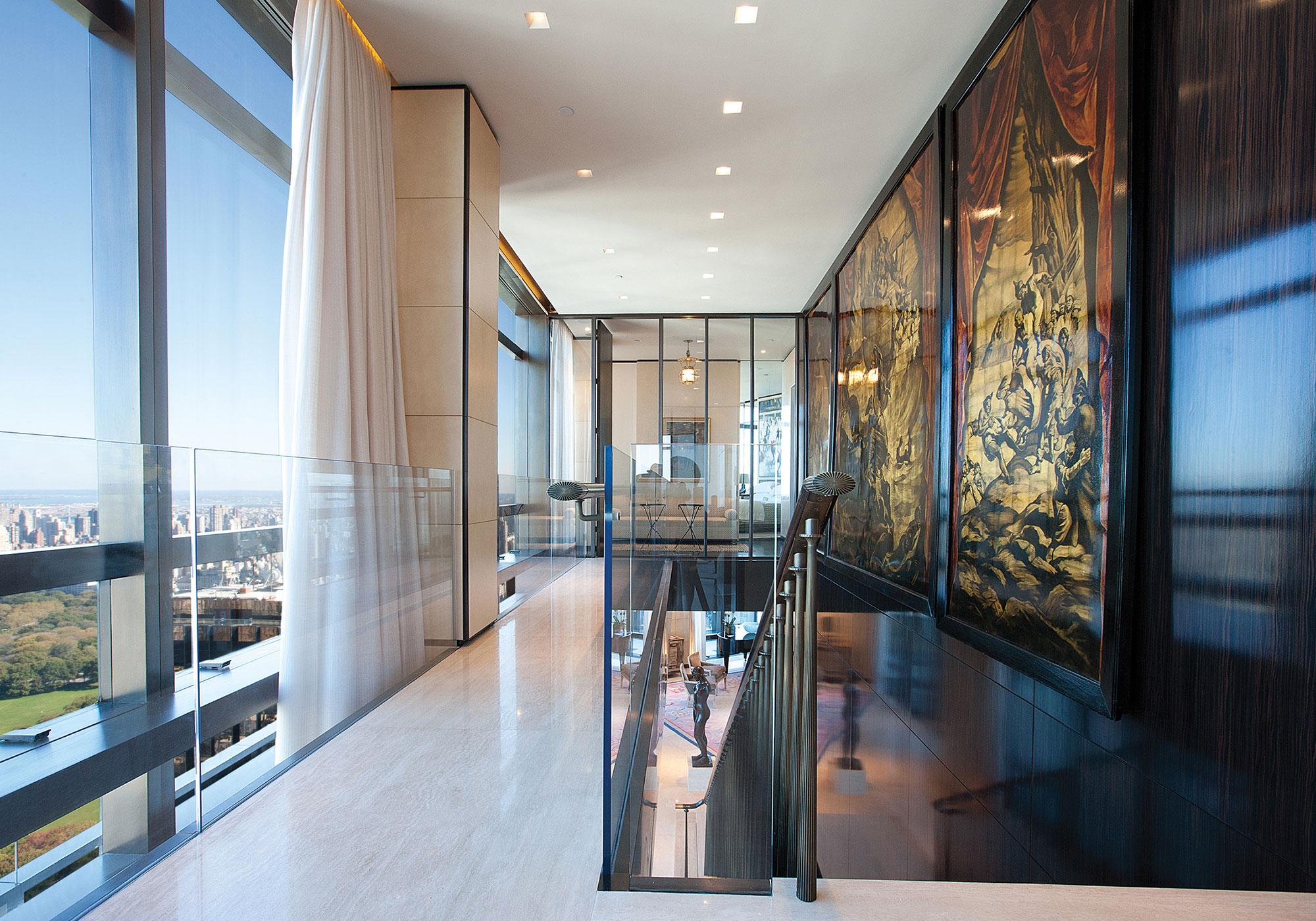 hallway, gallery, shades, draperies