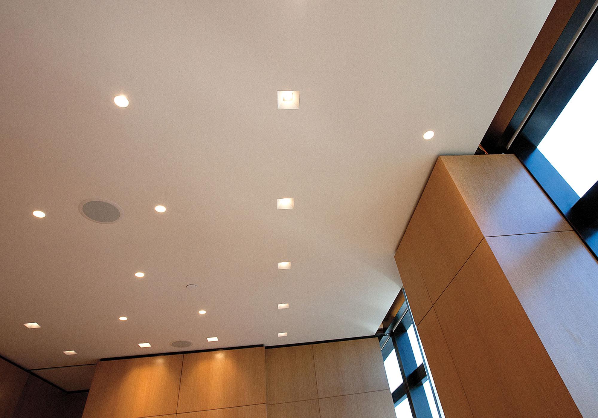 lighting, in-ceiling speakers