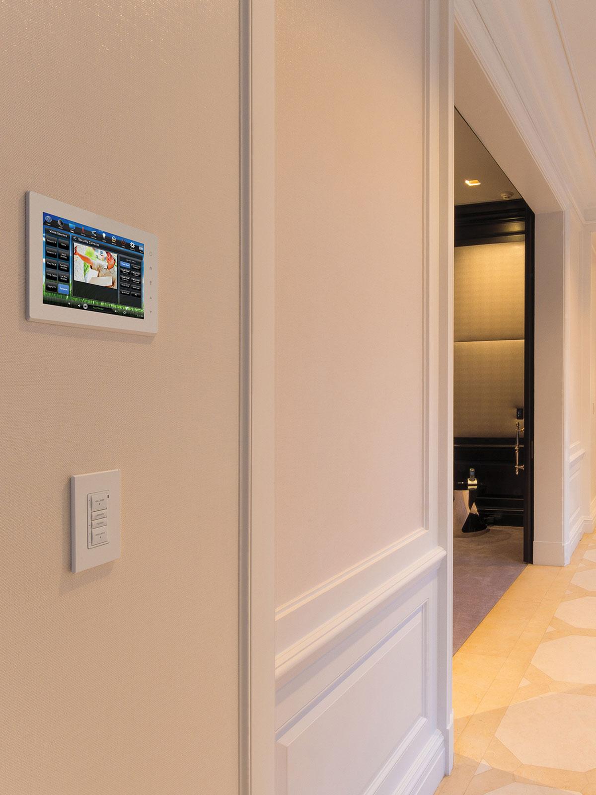 hallway, touchscreen, wall-mount touchscreen