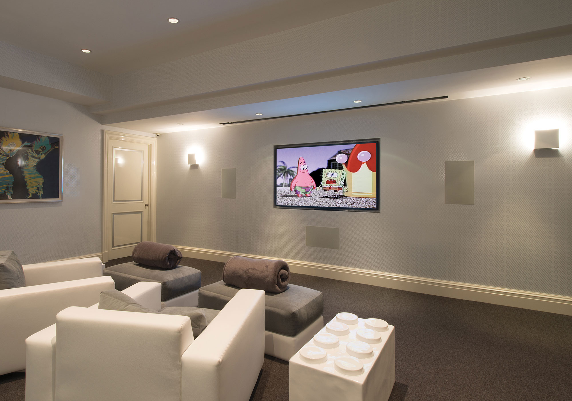 theater, tv, surround sound, speakers, in-wall speakers