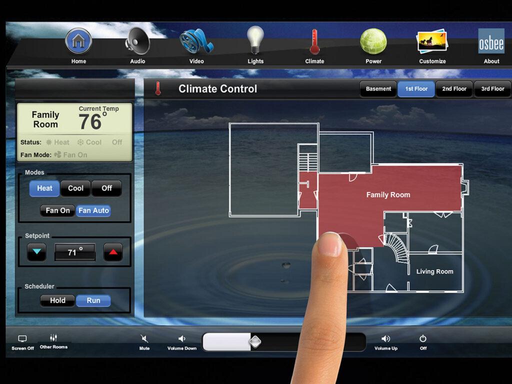 touchscreen, climate screen