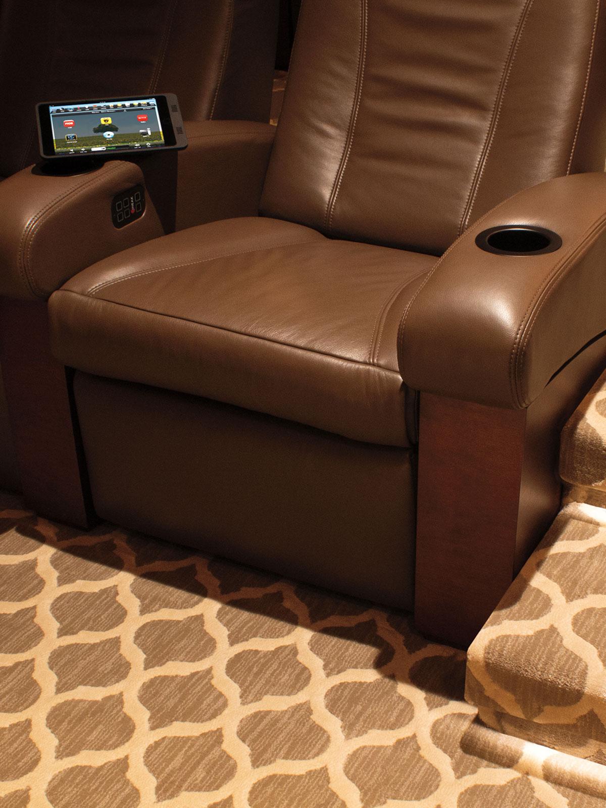 theater, seating, cineak, iPad, video screen