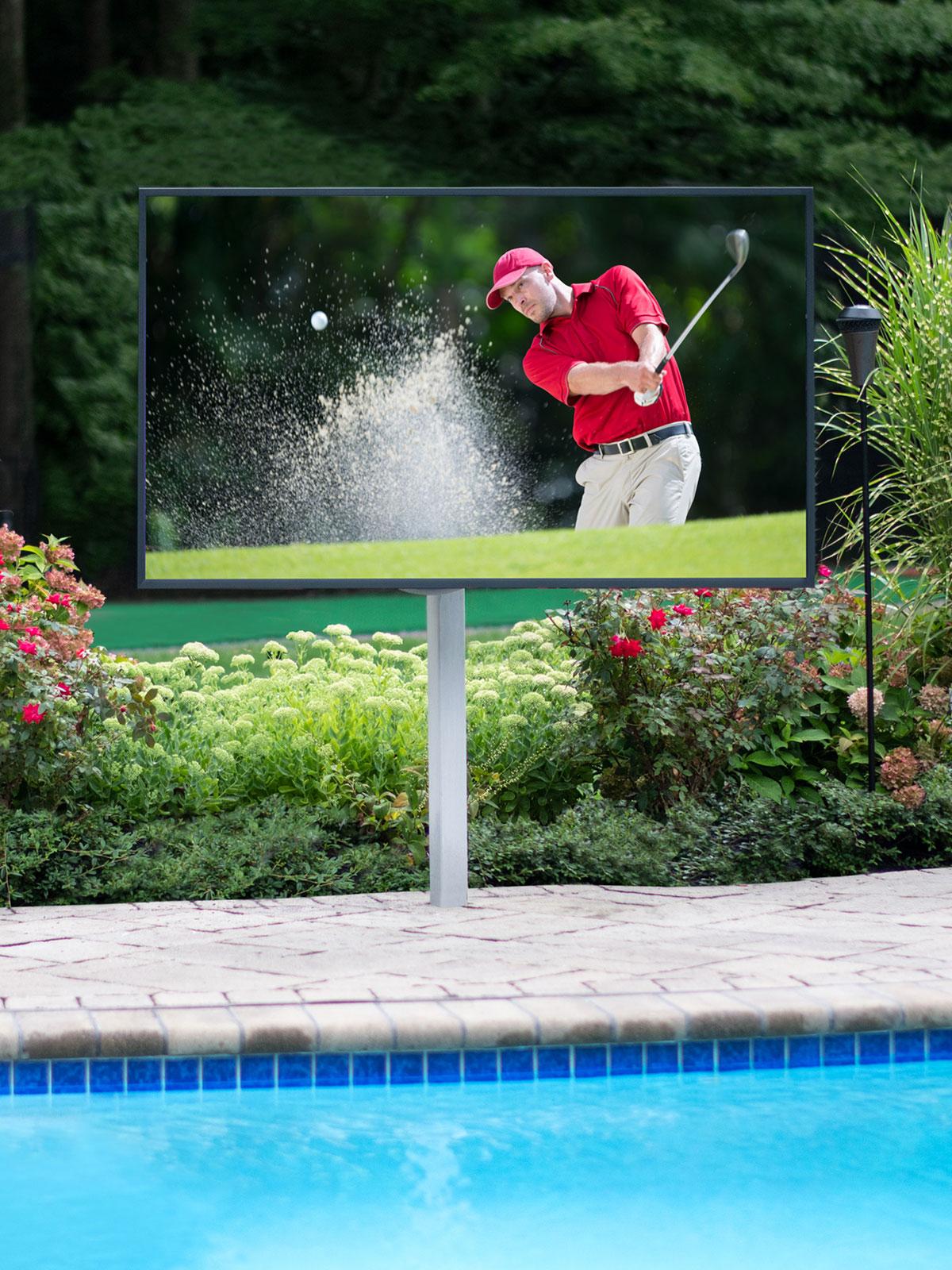tv, waterproof tv, pool