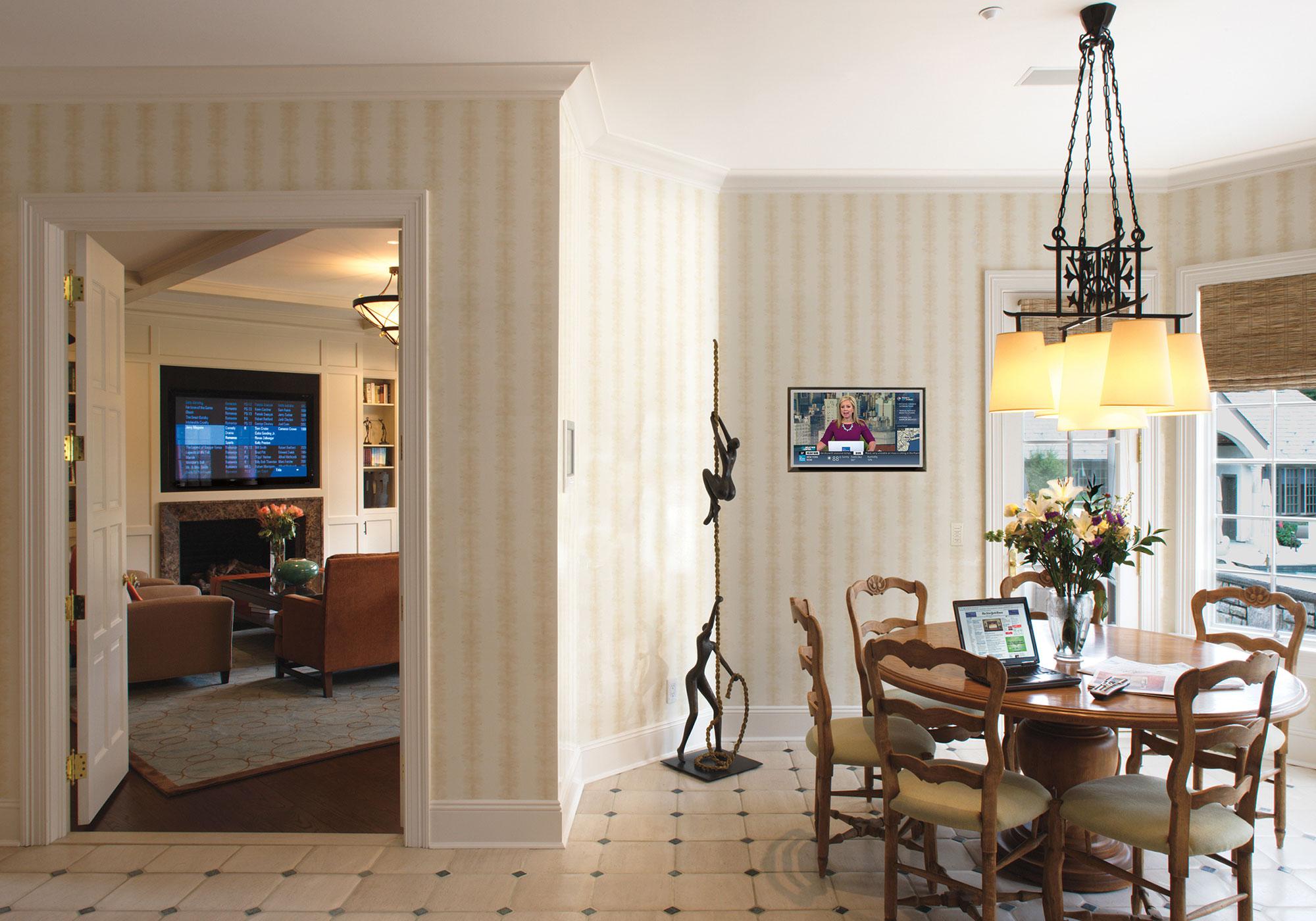 dining room, tv
