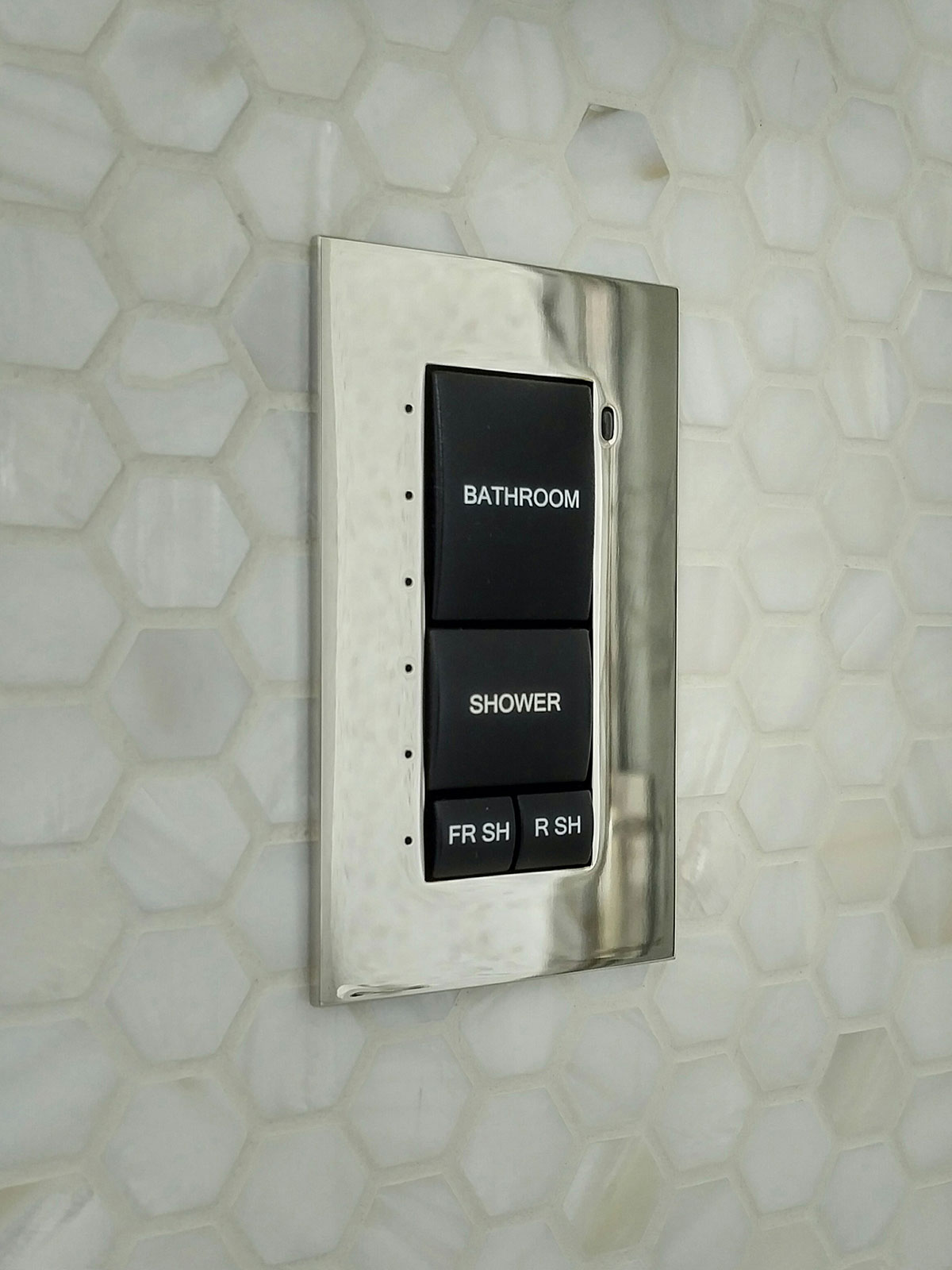 bathroom, keypad, presets, chrome