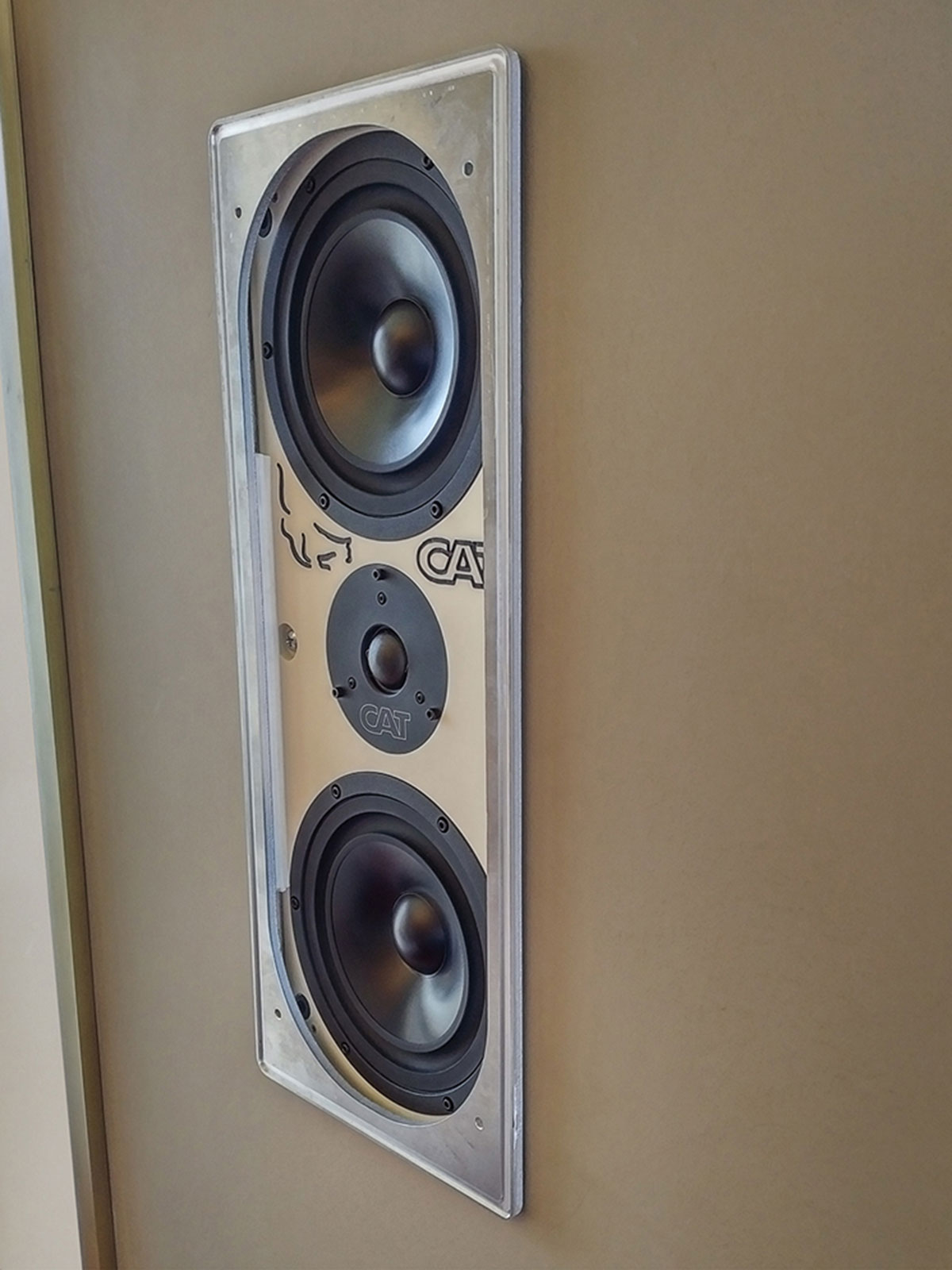 speakers, in-wall speakers, CAT, california audio technology