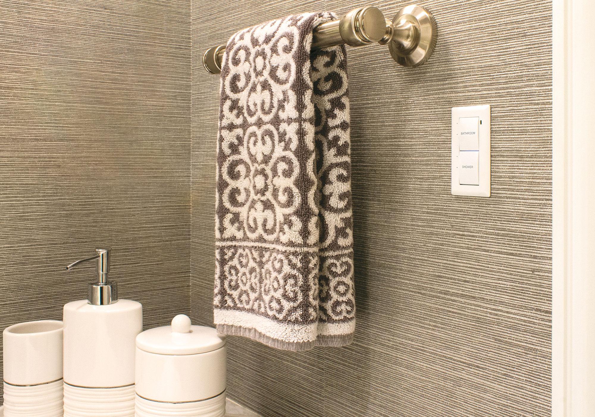 bathroom, keypad, flush-mount keypad, presets