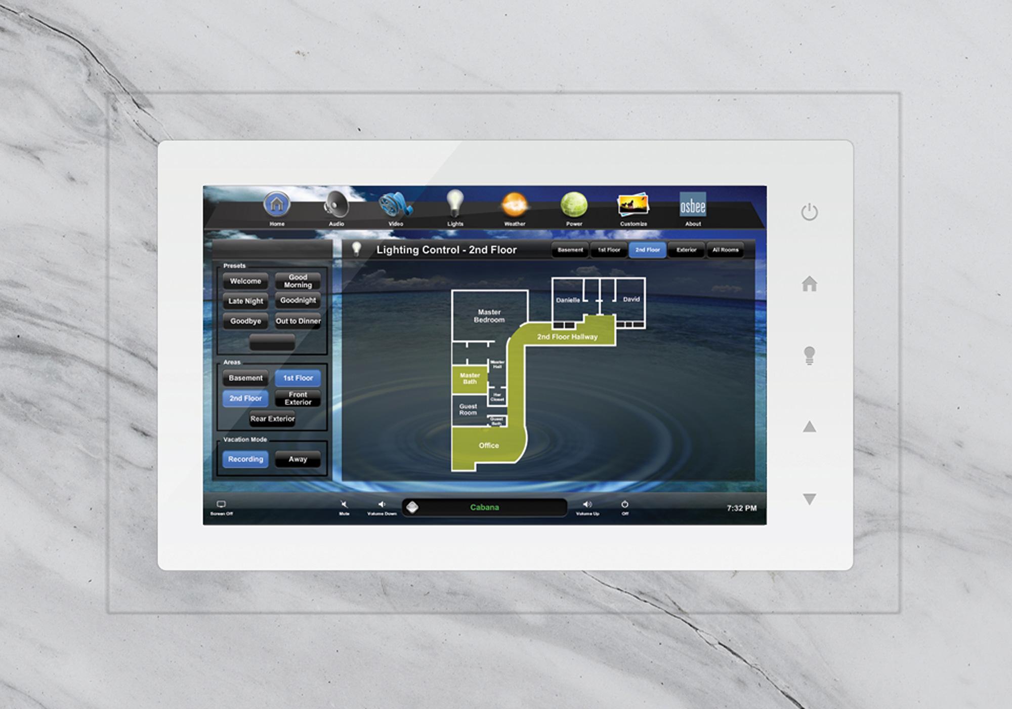 TruFig, flush-mount, touchscreen, wall-mount, marble, stone, lighting screen