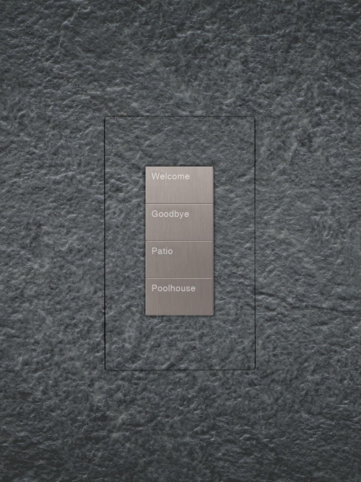 TruFig, flush-mount, keypad, stone