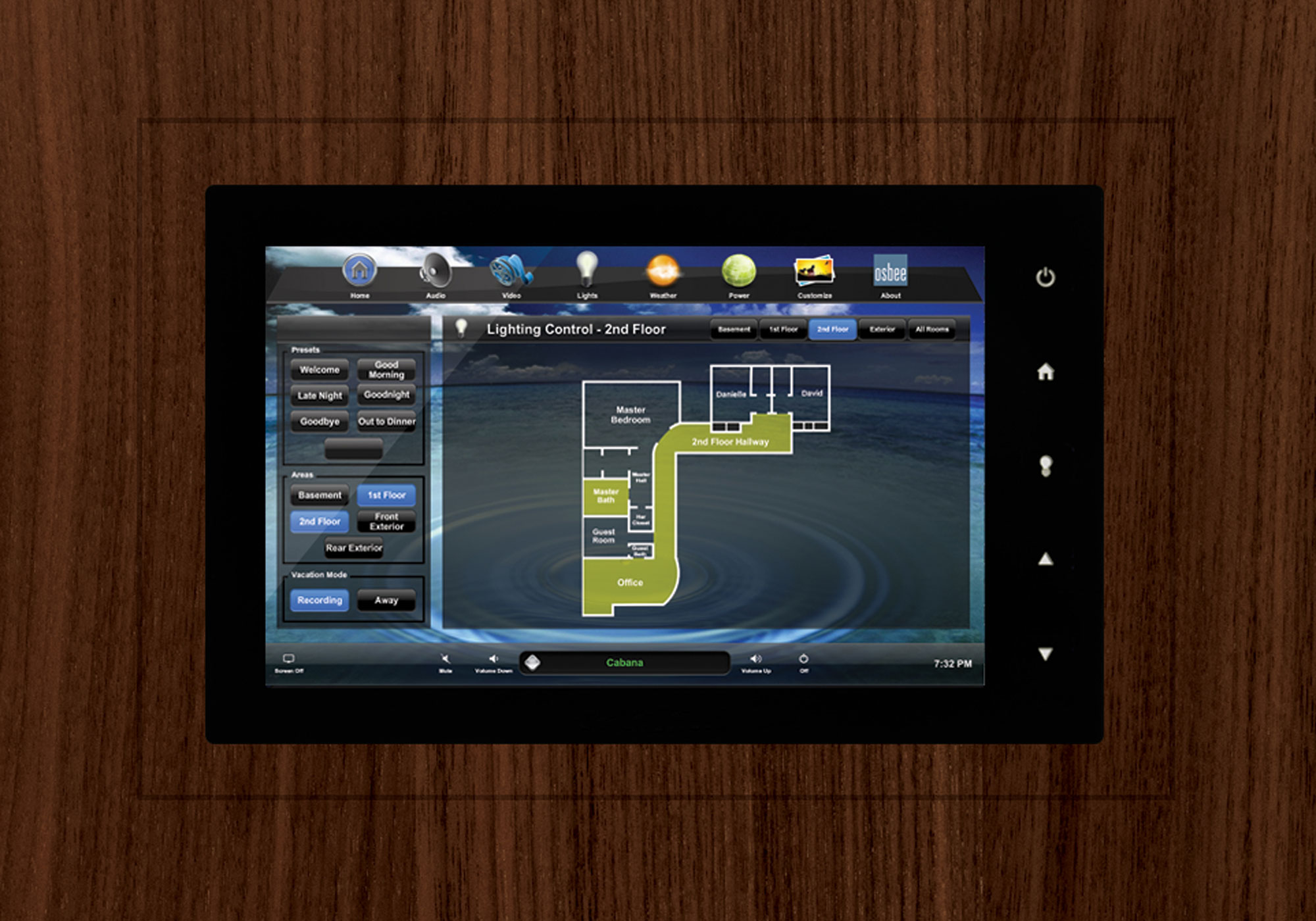 TruFig, flush-mount, touchscreen, wall-mount, lighting screen
