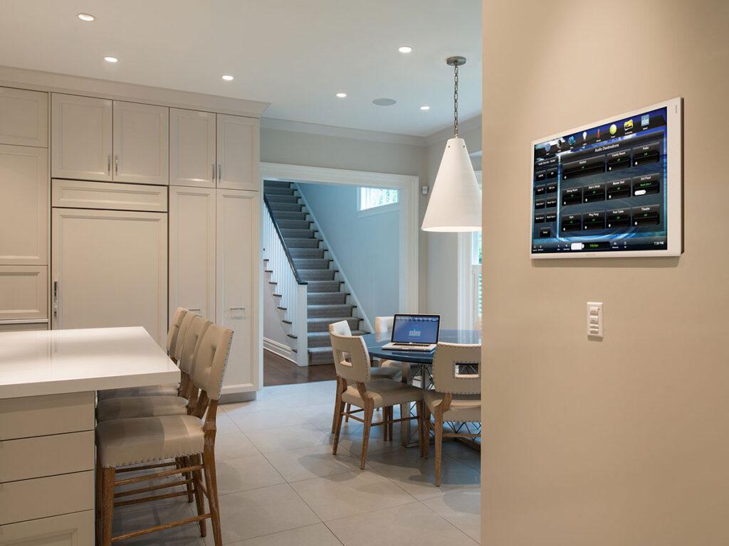 Kitchen, touchscreen, wall-mount touchscreen, keypad, flush-mount keypad