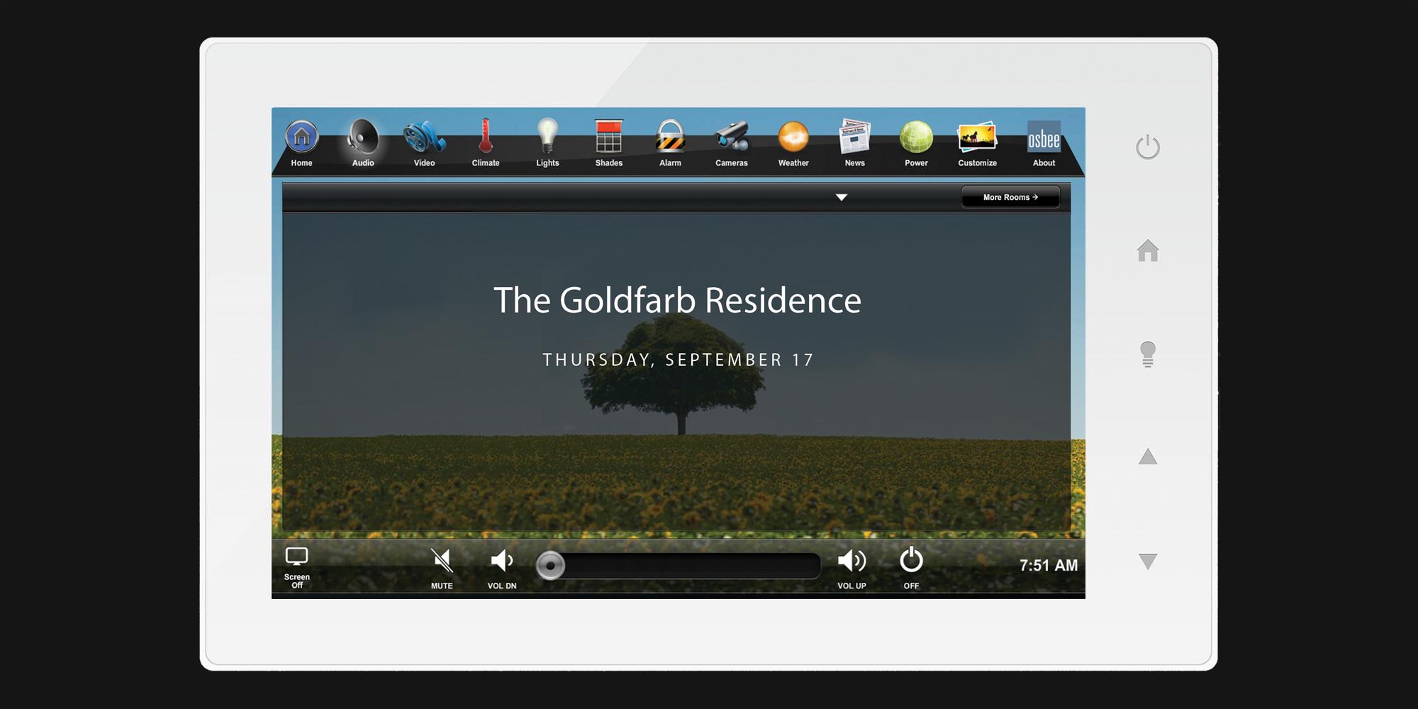 touchscreen, home screen