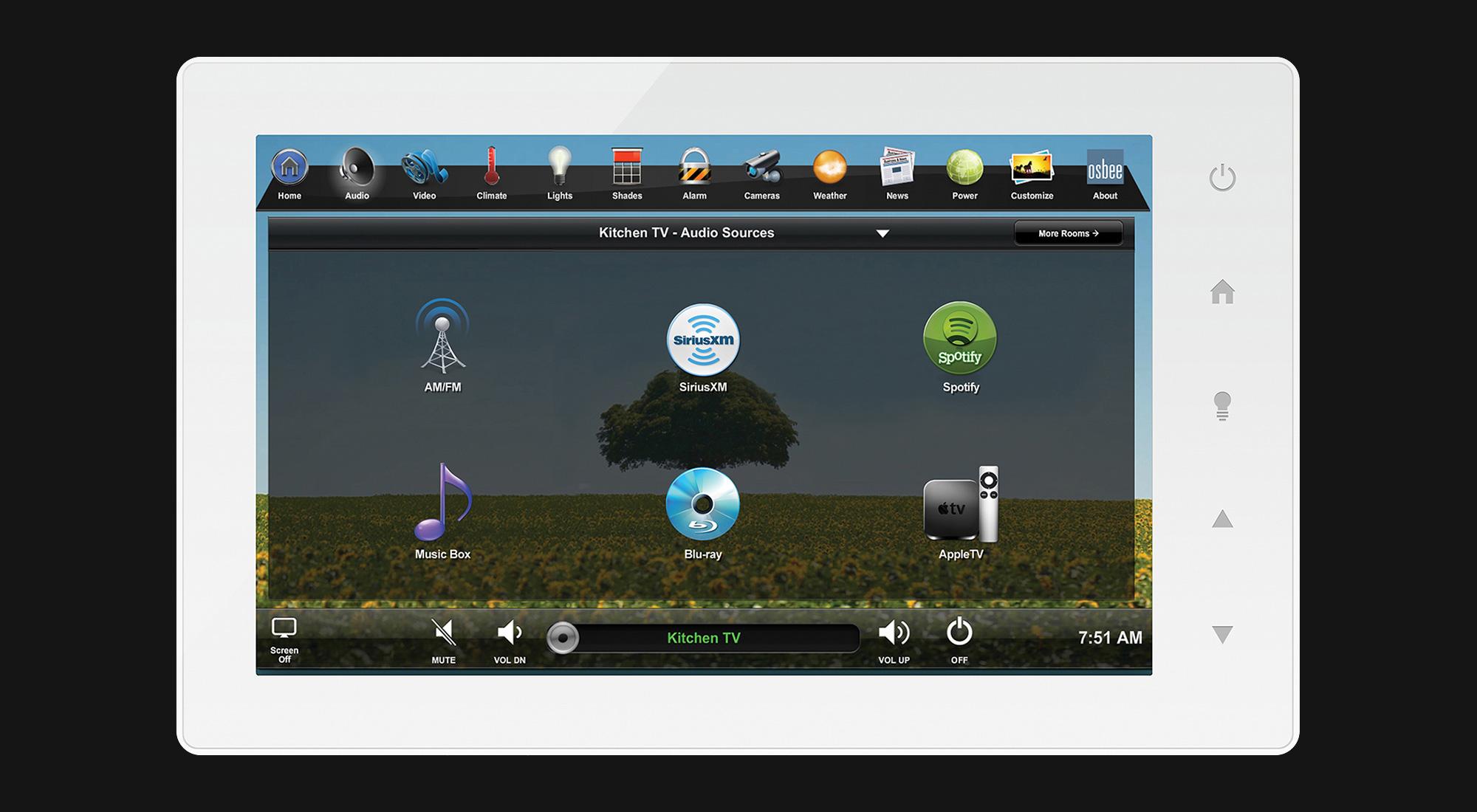 touchscreen, audio screen