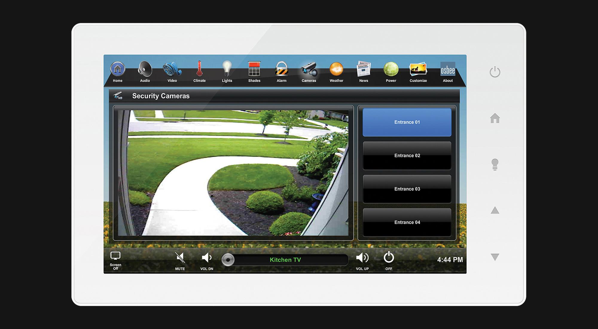 touchscreen, cameras screen